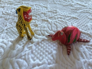 wooden animal souvenirs
