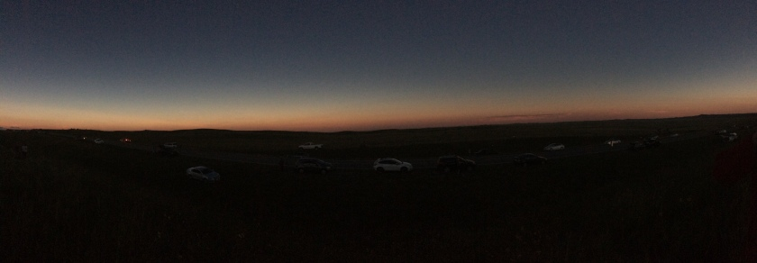 360 degree seeming sunset during totality