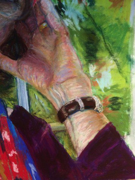 Self-Portrait detail, Copyright Hilary Zaloom 2017
